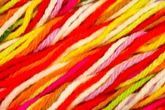 Cotton thread for knitting. Cotton thread for crocheting colored multi colored yarn Stock Images