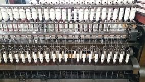 Cotton thread production Royalty Free Stock Photography