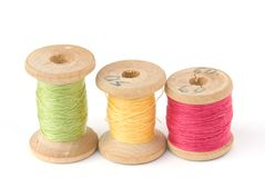 Cotton thread reels Stock Image