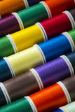 Cotton Thread - Sewing - Needlecraft. Selection of colored cotton threads used in sewing Royalty Free Stock Images