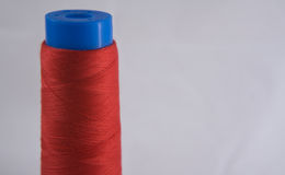Red Cotton Spool Royalty Free Stock Image