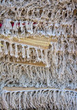 Cotton threads. Display of weaved cotton thread in mat Royalty Free Stock Image