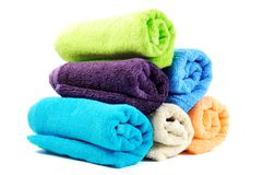 Cotton towels Stock Image