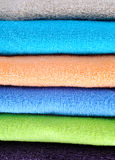 Cotton towels background Stock Images