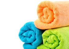 Cotton towels Stock Images