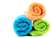 Cotton towels Stock Photo