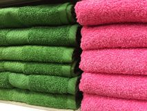 Cotton Bath Towels Stock Photos
