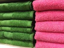 Cotton Bath Towels Stock Photos