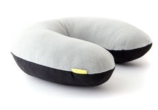 Cotton travel pillow royalty free stock image