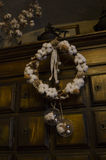 Cotton tree wreath. ! christmas decorations stock photography
