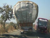Cotton trucks stock video footage