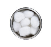 Cotton wool container Royalty Free Stock Images