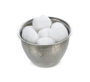 Cotton wool container Stock Images