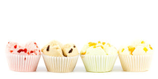 Cotton wool cup cake. On white background Stock Photo