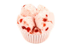Cotton wool cup cake Royalty Free Stock Photography