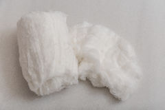 Cotton wool. On a gray background Royalty Free Stock Image