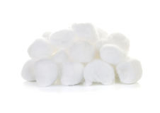 Cotton wool. Isolate on white background Stock Photos