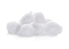 Cotton wool isolated on a white. Background Stock Photos