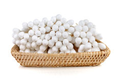Cotton wool sticks. Isolated on white stock photography