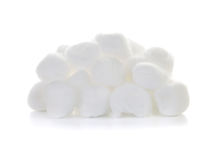 Cotton wool. On a white background Stock Image