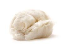 Cotton wool on white Royalty Free Stock Photos