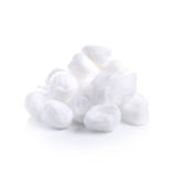 Cotton wool on a white  background Royalty Free Stock Images