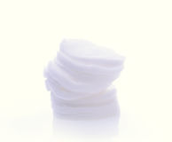 Cotton wool on a white background Stock Image
