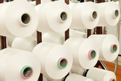 Cotton Yarn Bobbins Royalty Free Stock Images