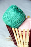Cotton yarn. Close up of cotton yarn royalty free stock image