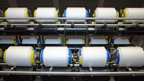 Cotton Yarn Production Stock Photography