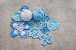 Cotton yarns and Irish lace Royalty Free Stock Photo