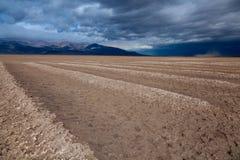 Cottonball Basin Borax Mining in Death Valley stock image