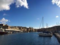 Cottonera-Jachthafen stockbilder