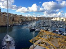 Cottonera Marina. In Birgu, Malta Royalty Free Stock Photography