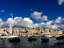 Cottonera Marina. In Birgu, Malta Royalty Free Stock Image