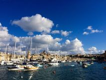 Cottonera Marina. In Birgu, Malta Royalty Free Stock Images
