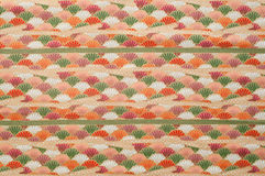 Cottonwood Close Up Antique Fabric. Antique fabric with colorful flowers pattern useful for textures and background Stock Image