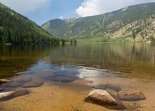 Cottonwood jezioro blisko Buena Vista Kolorado Zdjęcie Stock