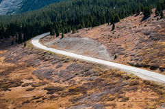 Cottonwood Pass Colorado. View of the road from the top of the Cottonwood Pass Continental Divide Colorado USA royalty free stock photos