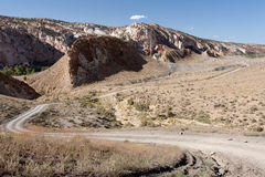 Cottonwood Road. In Grand Staircase-Escalante National Monument is a dramatic, multi-hued landscape that is rich in natural and human history. The Monument stock image