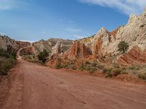 Cottonwood Road in Grand Staircase. Geologic rock formations along Cottonwood Canyon Road in Grand Staircase Escalante National Monument Utah stock photography