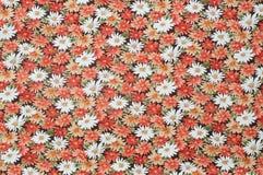 Cottonwood Zamknięta Up Antykwarska Kwiecista tkanina. Obrazy Royalty Free