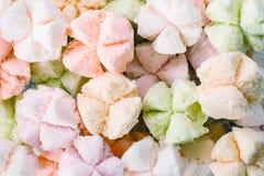 Cottonwool το κέικ, ταϊλανδικό επιδόρπιο, Ταϊλανδός έβρασε στον ατμό cupcakes, muffin Στοκ Εικόνα