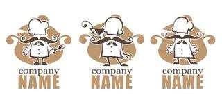 Cottura degli emblemi illustrazione di stock