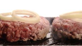 Cottura degli hamburger archivi video