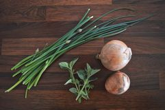 Cottura degli ingredienti dal giardino fotografia stock libera da diritti