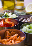 Cottura degli ingredienti. Verdure Immagine Stock