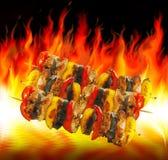 Cottura dei barbecue Fotografia Stock Libera da Diritti
