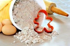 Cottura del biscotto del pan di zenzero Fotografia Stock Libera da Diritti