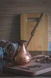 Cottura del caffè Fotografie Stock Libere da Diritti